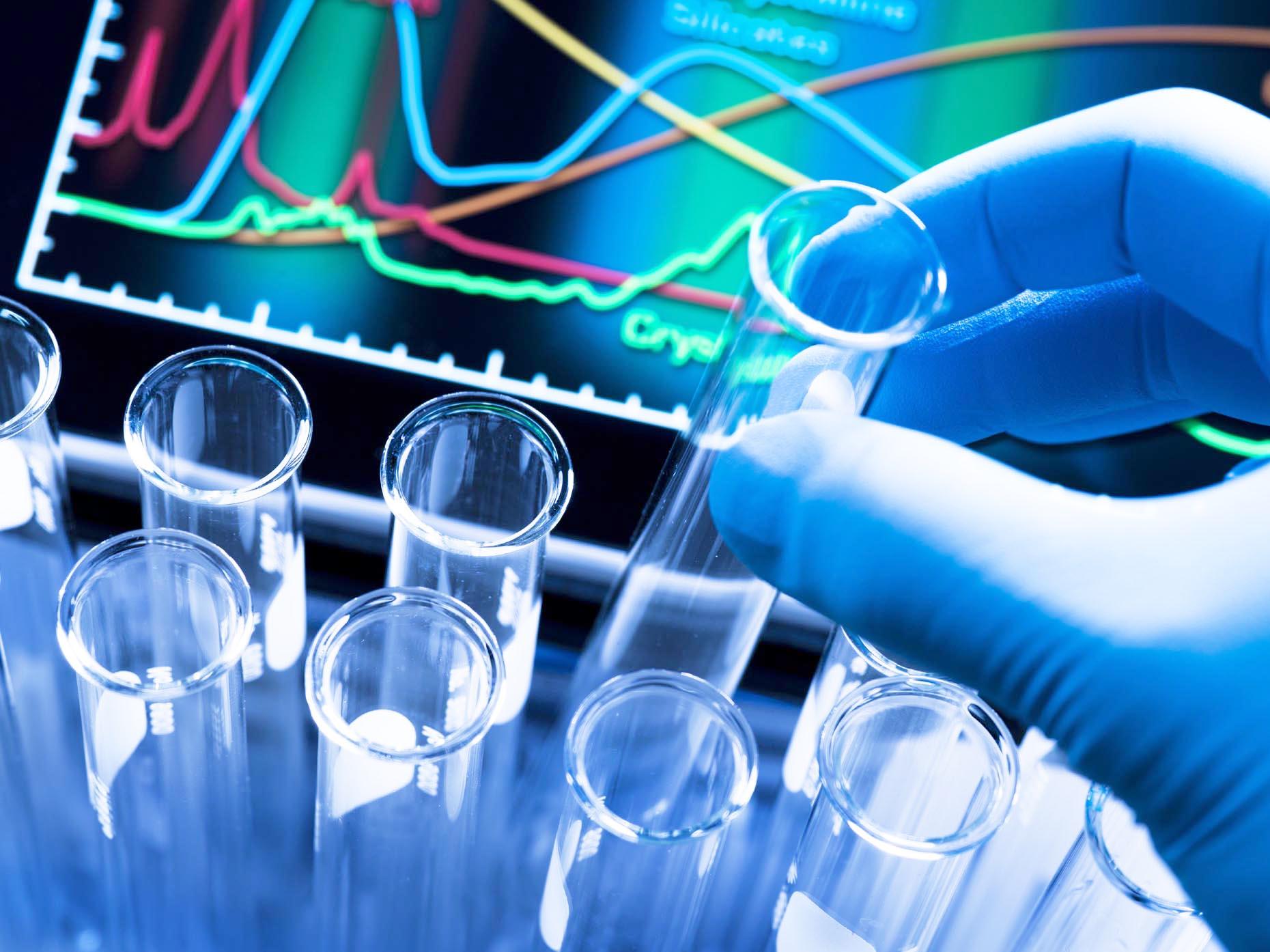 Test tube rack in a laboratory